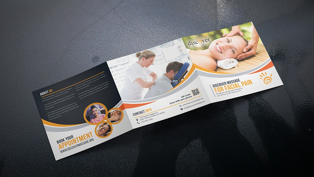 Facial Massage Trifold Brochure